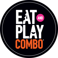 Eat & Play Combo Logo