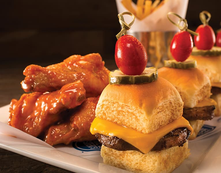 Game Day Specials - Sliders and Wings