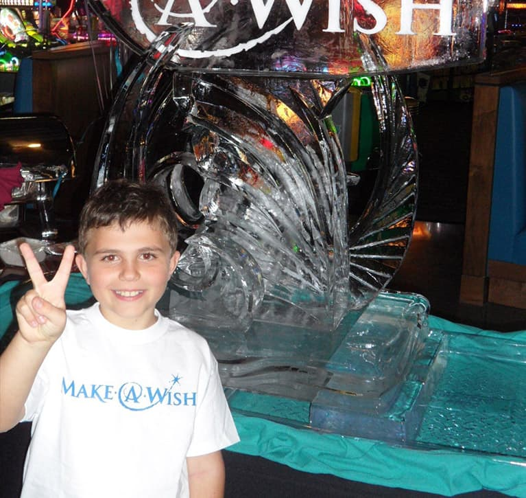 Child celebrating with the Make a Wish Foundation