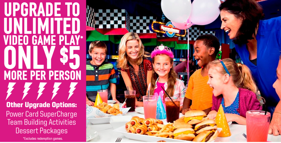 Dave Busters Kids Birthday Party Venues - Childrens birthday parties orleans ontario